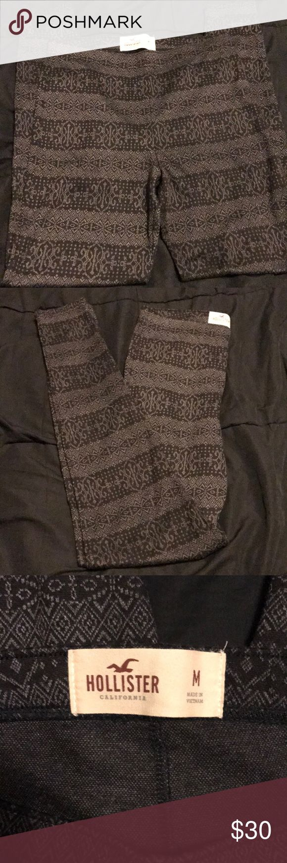 Hollister leggings Gray and black hollister leggings. Perfect condition, have only been worn once. Smoke free home, open to offers! Hollister Pants Leggings