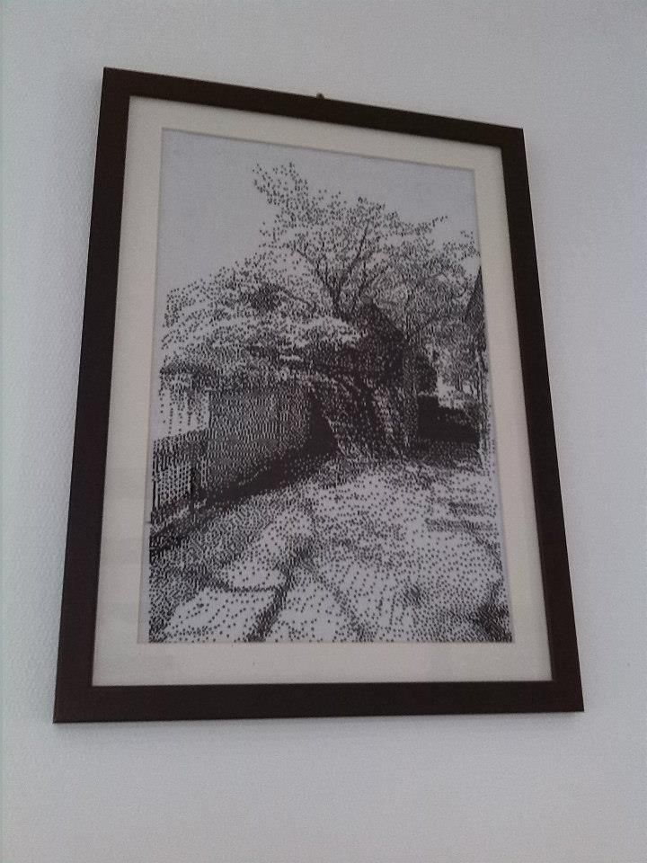 With frame
