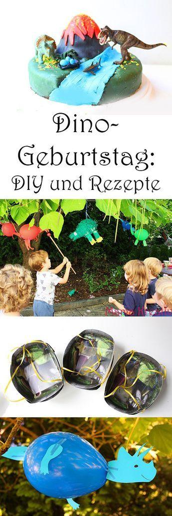 Dino Geburtstag. DIY Spiele Deko und Rezepte für Dinosaurier Kindergeburtstag