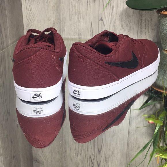 Nike Sb Check Solar Cnvs Dark Team Red Black Wh Nike Sb Nike Nike Shoes