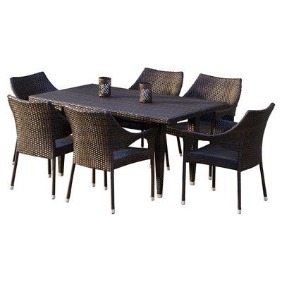 Mercury Row Nevius Outdoor 7 Piece Dining Set & Reviews | Wayfair
