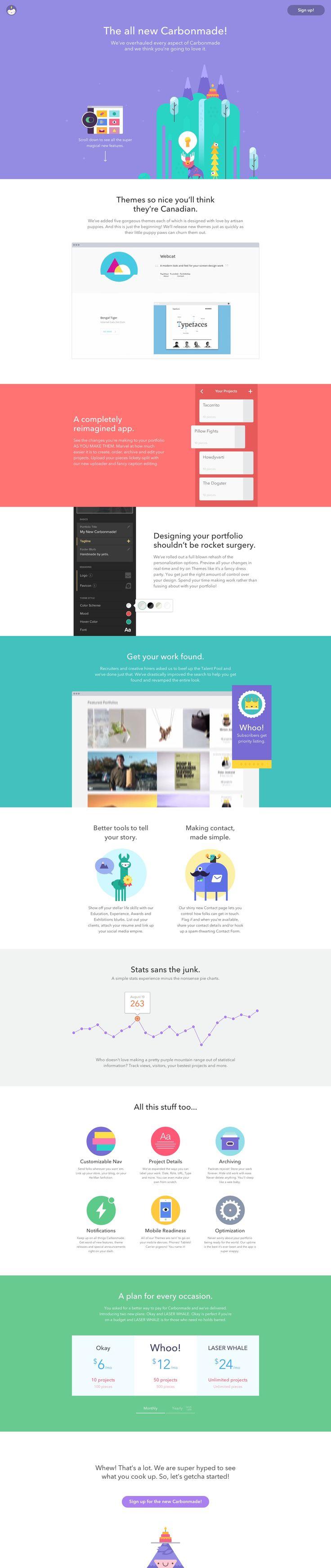 Unique Web Design, Carbonmade #WebDesign #Design #FlatDesign