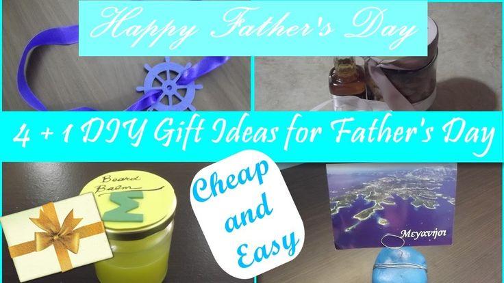 4 + 1 DIY gift ideas for Father's day 🎁 Δώρα για τη Γιορτή του πατέρα