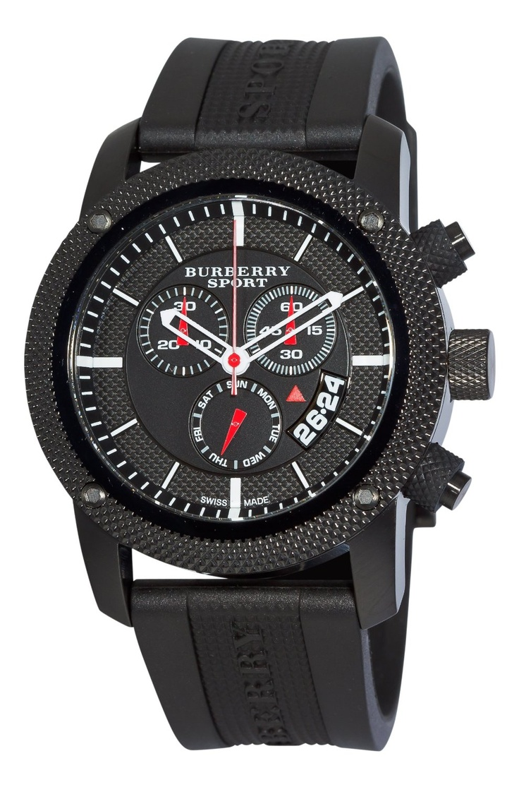 Burberry Men's BU7701 Endurance Black Chronograph Dial Watch