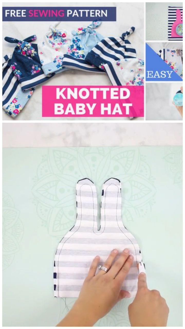 Lernen Sie einen Top Knot Baby Strickmütze zu nähen   – Babykleidung