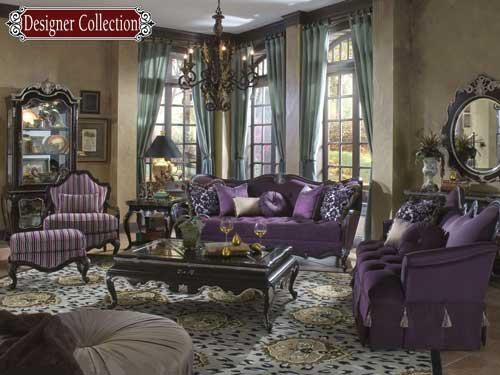 purple gold room