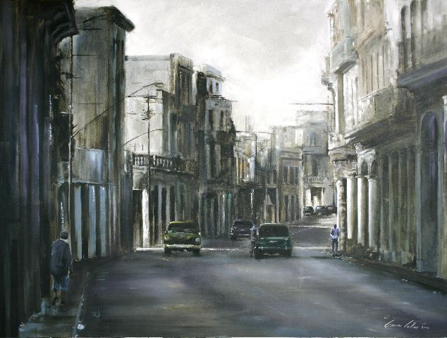 "Title: ""Morning Light Cuba"" Gavin Collins Paintings Size: 2m x 1,5m"