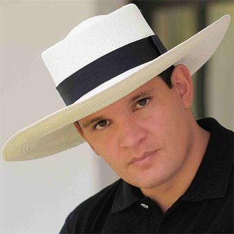 Let's be honest we all need a big hat to wear to block the sun from getting into our eyes...Panama Hat - Gambler for Men (Grade 3-4) Wide Brim