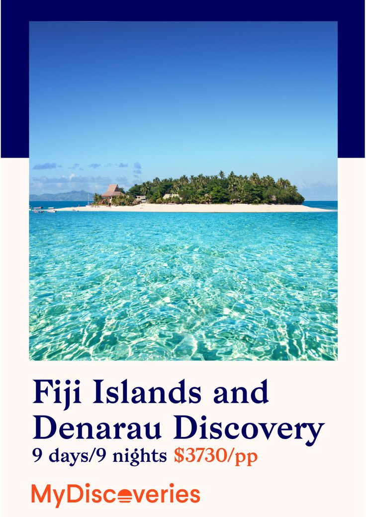 Discover the Manamuca and Yasawa Islands! From Monuriki Island, where the Tom Hanks movie 'Castaway' was filmed Trip to The Narokorokoyawa or Sacred Islands where you will experience a Sevusevu (gift giving) ceremony. All with MyDiscoveries!
