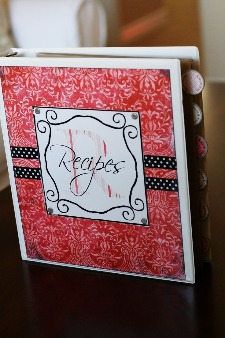Recipe binder for Personal Progress project