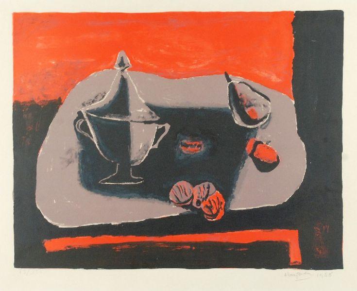 Henryk HAYDEN (1883-1970)  Martwa natura, 1968 litografia barwna, papier; 38,5 x 50 cm (wymiar kompozycji);