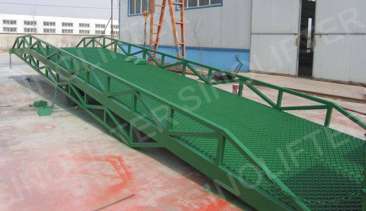Container ramp provides fast, convinient and higher work efficiency between container and warehouse. Here is 10t for your reference: http://sinolifter.com/mobile-dock-ramp/mobile-container-loading-ramp.html. More info welcome here: mf@sinicmech.com