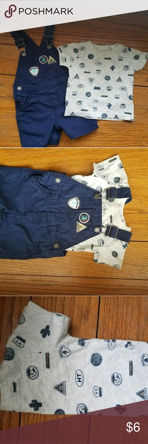 Carter's 2 piece outfit Coveralls with matching shirt. Only worn twice while on vacation in Arizona. Bought at the Carter store. 🚫No Trades🚫 ♥Bundle and save♥ ⛤ASAP Shipping⛤ Carter's Matching Sets