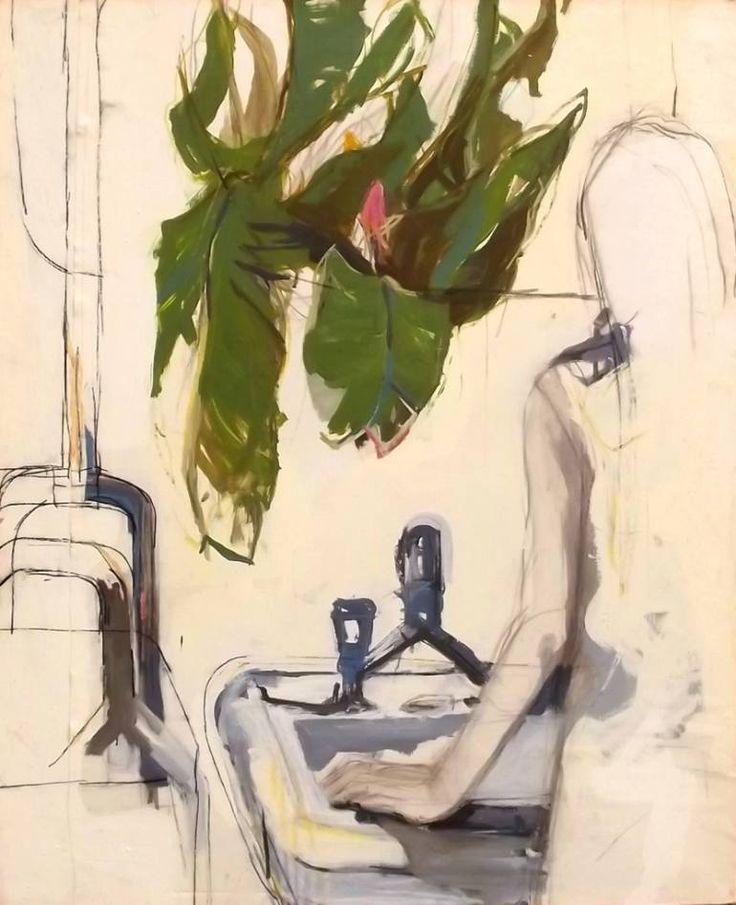"Saatchi Art Artist WILFRID MINATCHY; Painting, ""WOMEN AT BATH"" #art"