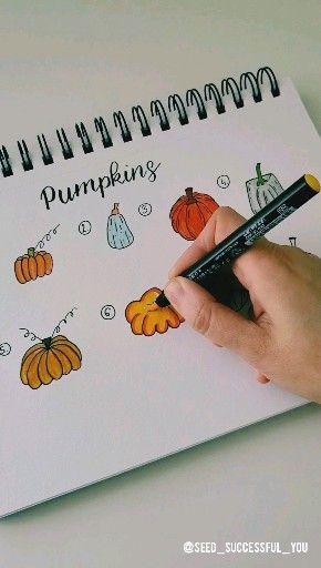 Acht verschiedene Arten, einen Kürbis zu zeichnen. 🎃✏