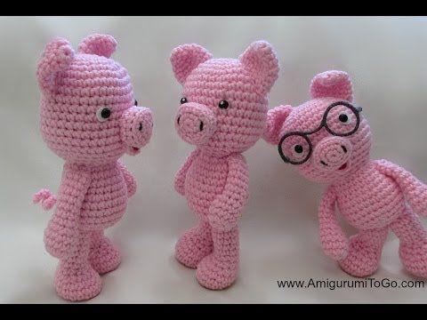 Crochet Little Bigfoot Pig - YouTube