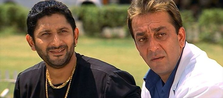 Arshad Warsi and Sanjay Dutt in *Munna Bhai M.B.B.S.* (2003) | 5 Favorite Arshad Warsi Performances to Watch If You Are New To Bollywood | Falling in Love with Bollywood http://www.fallinginlovewithbollywood.com/2015/04/6-arshad-warsi-films-to-watch-if-you-are-new-to-bollywood.html?utm_campaign=socialmedia&utm_source=pinterest.com&utm_medium=filwbollywood