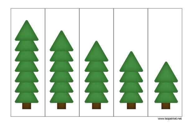 thema kerst linkfeestje - meten met kerstbomen - Lespakket