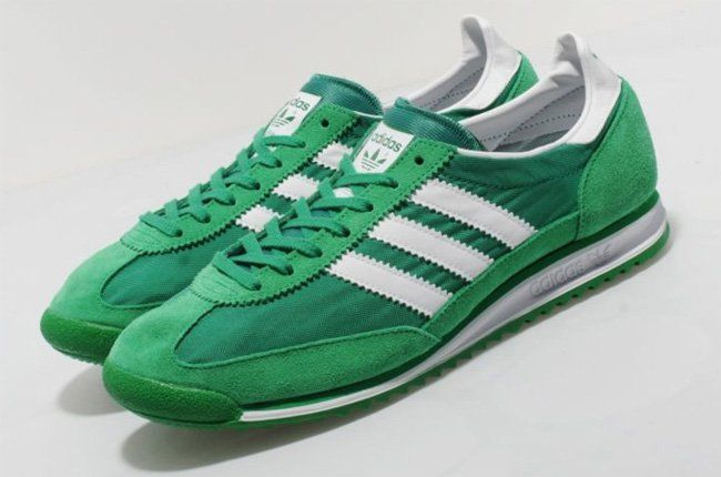 mens adidas sl 72 vintage trainers green