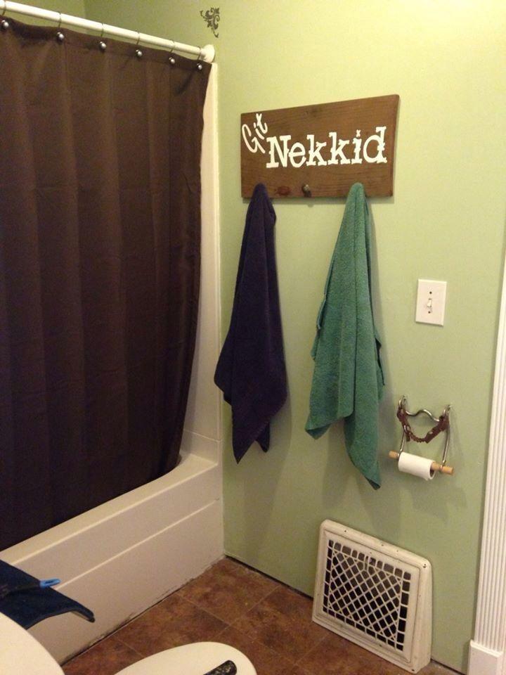 Western decor towel hanger.