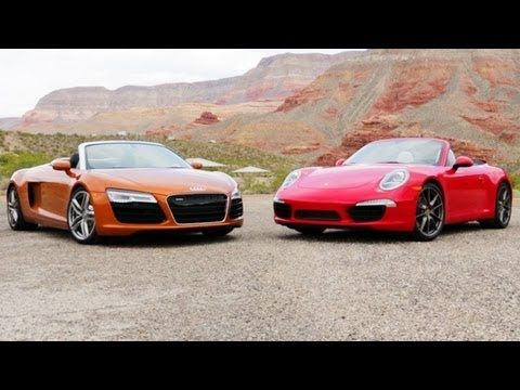 2014 #Audi R8 Spyder vs 2013 #Porsche 911 Carrera S Cabriolet! [Head 2 Head Episode 37]