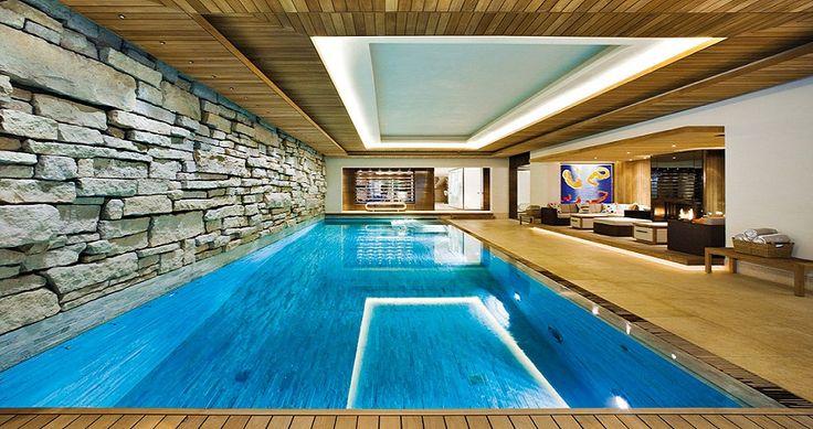 Luxury basements luxury pool in a basement endless for Endless pool in basement