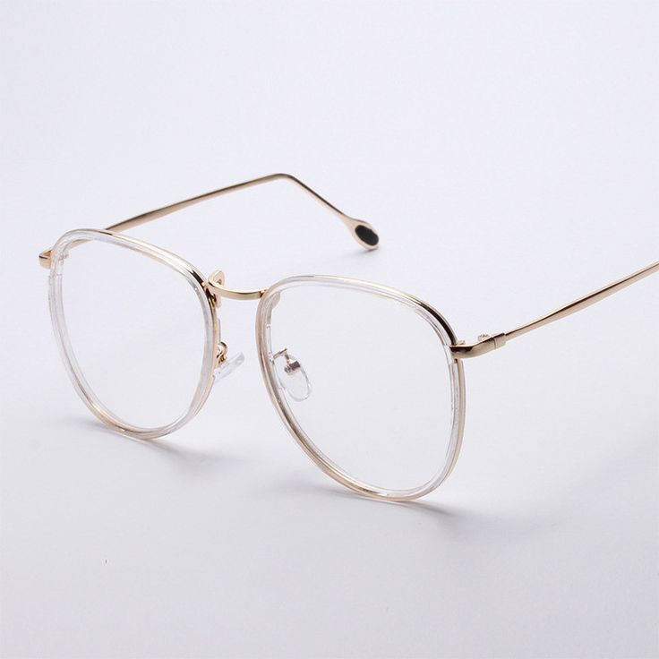 Retro circle eye glasses frames for men and women metal optical frame fashion transparent glasses