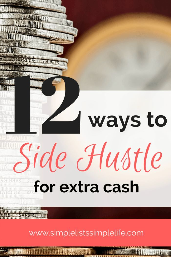 Side hustle ideas for passive income. Earn money at home with these 12 easy ideas to earn extra income.