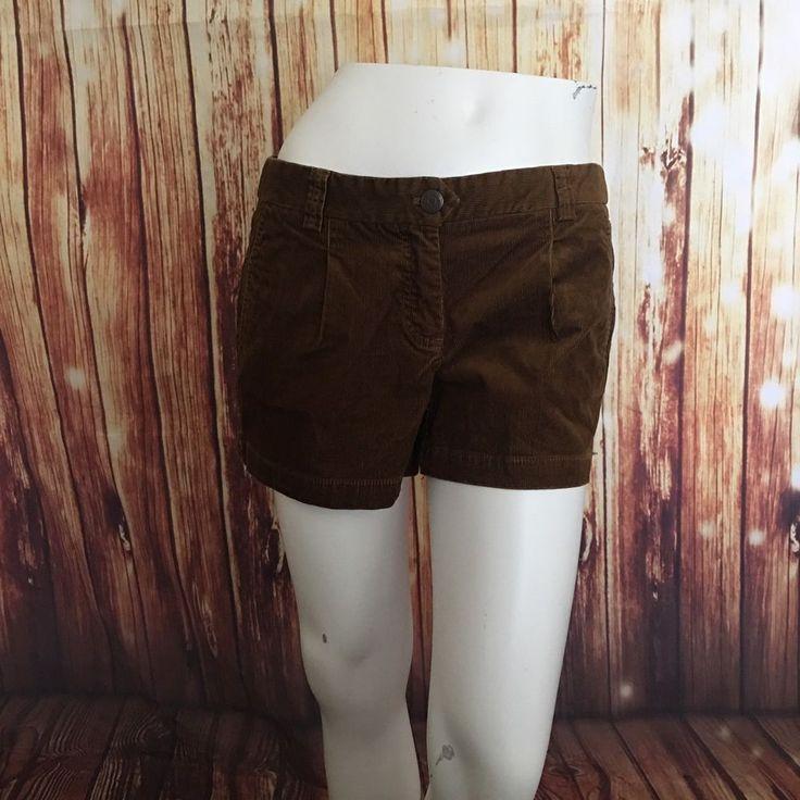 NWOT J Crew Brown Corduroy Curvy Fit Stretch Shorts Sz 4 #JCREW #CasualShorts