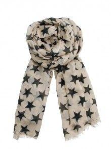 BeckSöndergaard - B-Summer night scarf Catgrey DKK 499.- (66€) #Becksondergaard #scarf #fashion