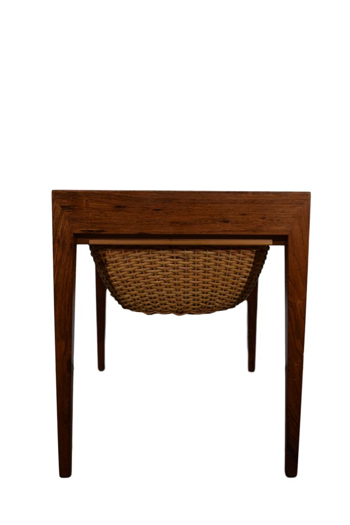 A rosewood sewing table, Severin Hansen