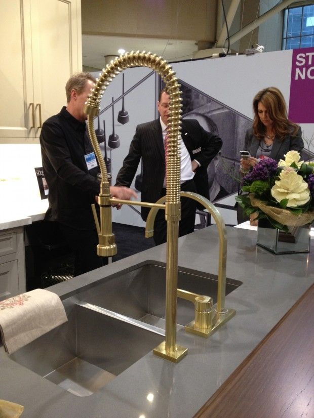 yes a cool goldbrass faucet