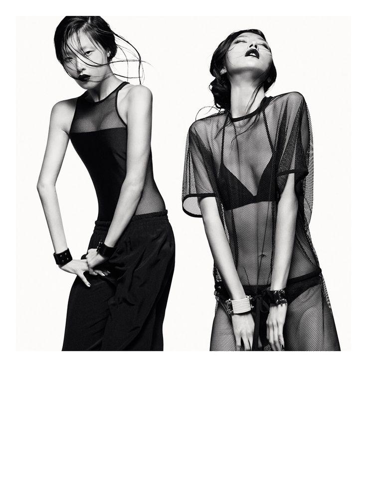 robert longo greg kadel photos4 Numéro Magazine # 154 Junho 2014 | Sung Hee Kim & Jihye Park por Greg Kadel  [Editorial]