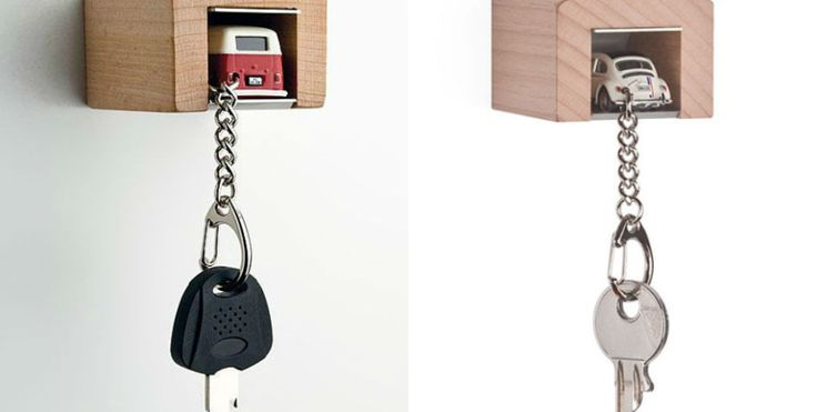 Park your car keys in this key holder that looks like a mini garage » Lost At E Minor: For creative people