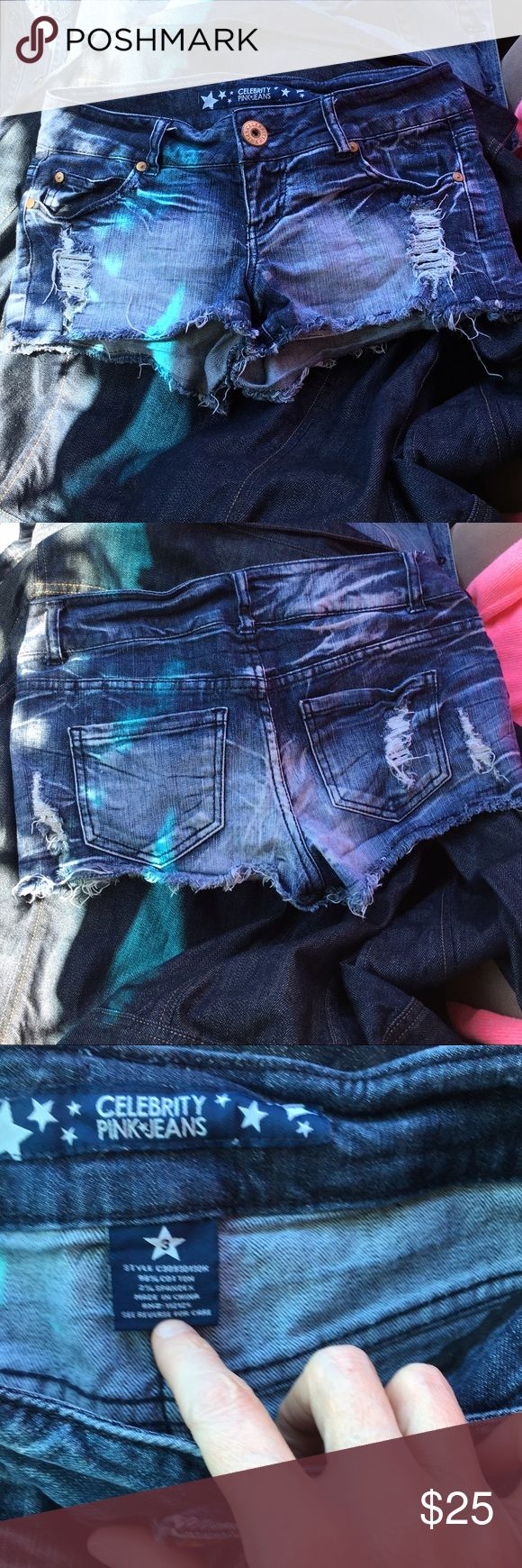 Celebrity Pink Shorts 3 NWOT Distressed and So Soft and Worn and Sexy well everything you want in shorts! That about says it all girls! Might want a Grab these!! 😁 Celebrity Pink Shorts