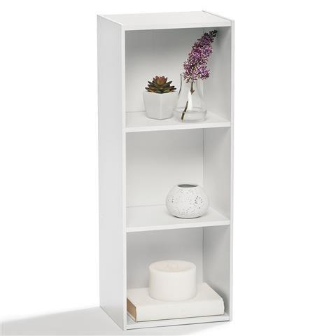 3 Tier White Bookshelf