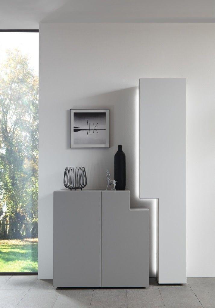 Wöstmann Nw 440 Sideboard 3011 Lack Grau Wohnzimmer Graue Möbel