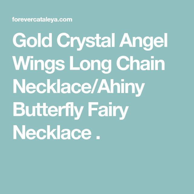 Gold Crystal Angel Wings Long Chain Necklace Ahiny Butterfly Fairy Necklace  . 5ac70ccc60