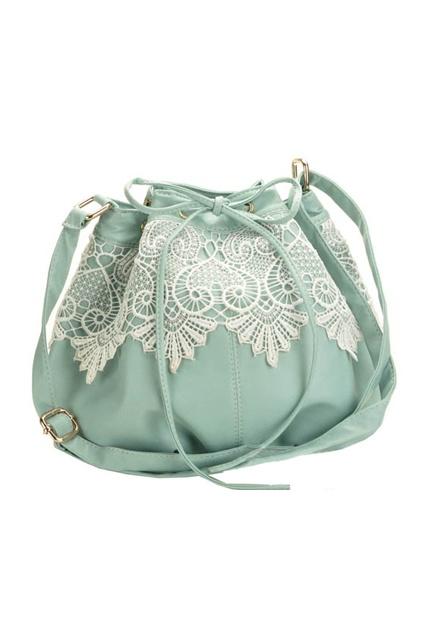 lace mint bag