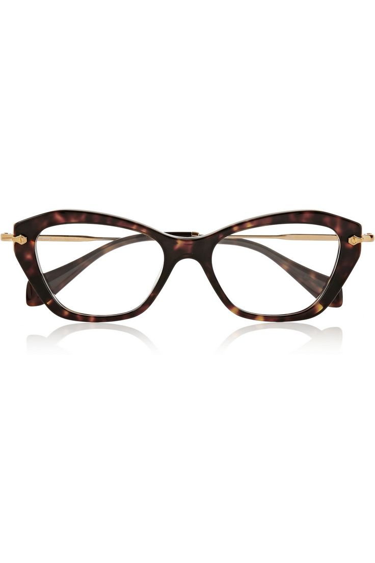 Miu Miu | Cat eye acetate optical glasses: