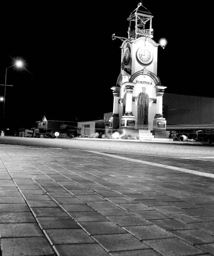 Hokitika town clock. Never seen it look so urban.  Hokitika, West Coast, New Zealand.  ^James Print