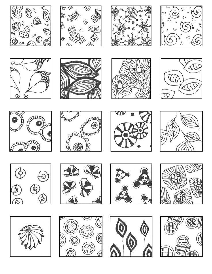 3682 best Zentangle patterns images on Pinterest