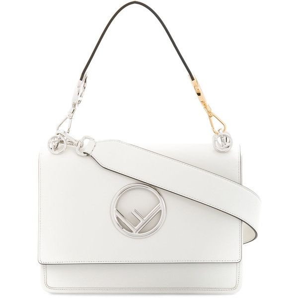 Fendi White Leather Kan I F Handbag 7 520 Brl Liked On Polyvore Featuring Bags