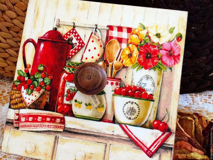 """Купить Короб """"Яблоко&Калина 3 в интернет магазине на Ярмарке Мастеров"""
