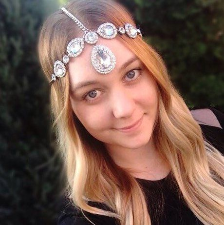 Our handmade stunning and sparkling Goddess wedding headpiece - one of a kind