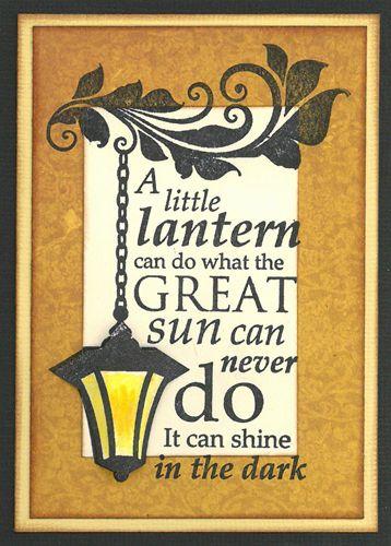 Stamp-it Australia: 4969F Lantern - Card by Susan