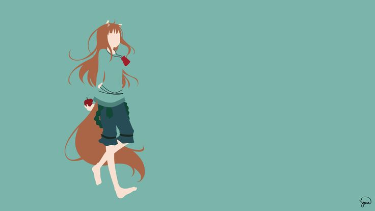 Holo (Spice and Wolf) Minimalist Wallpaper by greenmapple17.deviantart.com on @DeviantArt