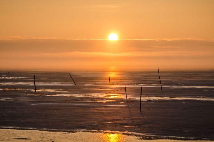 Beautiful Sunrise In A Seaside Fishing Village