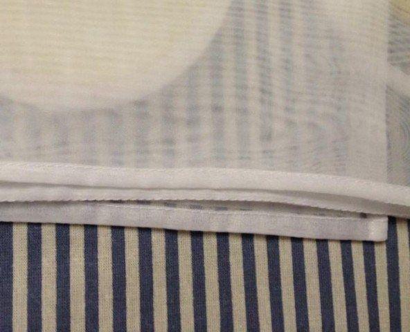 Как подшить тюль в два счета и без наметки