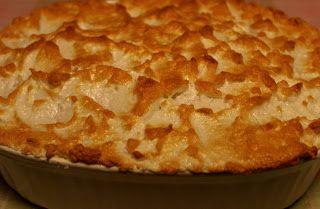 Old Fashioned Banana Pudding with Meringue Topping.